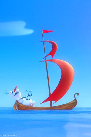 Frozen Olaf phone achtergrond