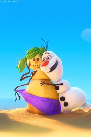 Frozen Olaf phone wallpaper
