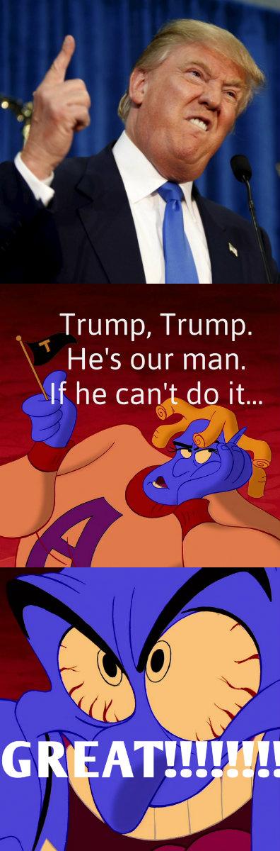 Genie isn't a peminat of Donald Trump