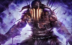 God Of War Ascension Hades Art Purple Devil Character Game WallpapersByte com 3840x2400