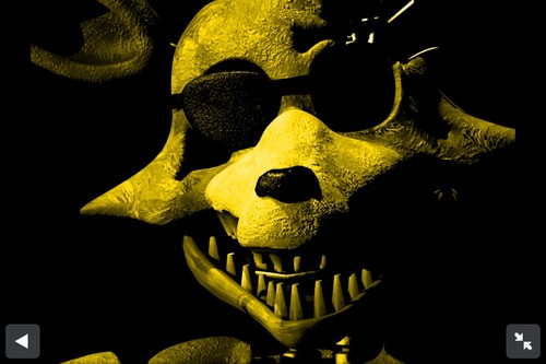five nights at freddy's fondo de pantalla containing a triceratops called Golden Foxy