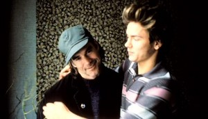 Gus van Sant and River Phoenix behind the scenes of My Own Private Idaho