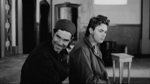 Gus transporter, van Sant and River Phoenix behind the scenes of My Own Private Idaho