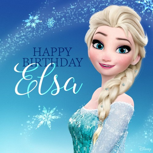 Disney Princess wolpeyper with a portrait entitled Happy Birthday Elsa