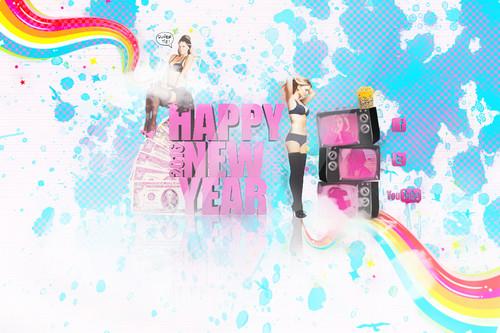 Сексуальные женщины Обои called Happy new год