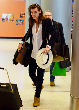 Harry Arriving at Miami airport