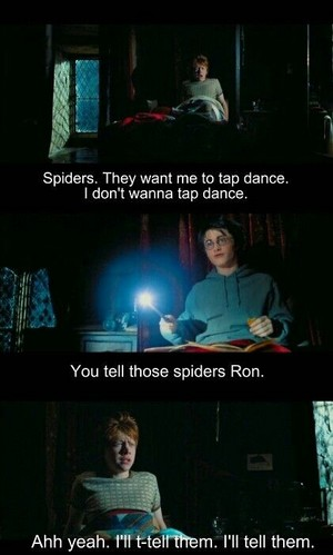 Harry and Ron talking about Tap dance