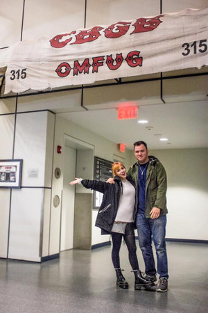 Hayley and Chad at the Rock and Roll Hall of Fame