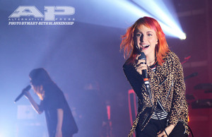 Hayley performing 'Bury It' with CHVRCHES