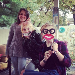 Hayley with her sisters