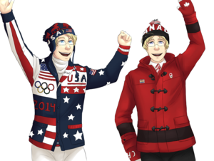 Hetalia Olympics NA Brothers Opening Ceremony