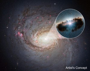 Hidden Lair at the сердце of Galaxy NGC 1068