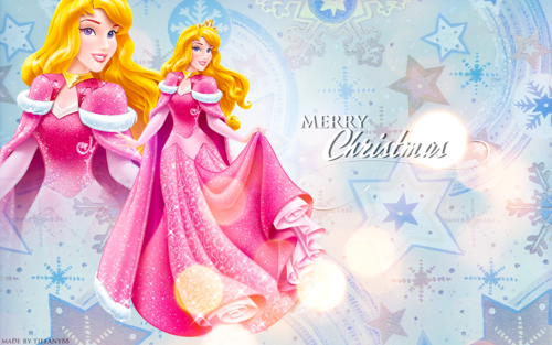 Disney Princess wallpaper entitled Holiday Princess - Aurora