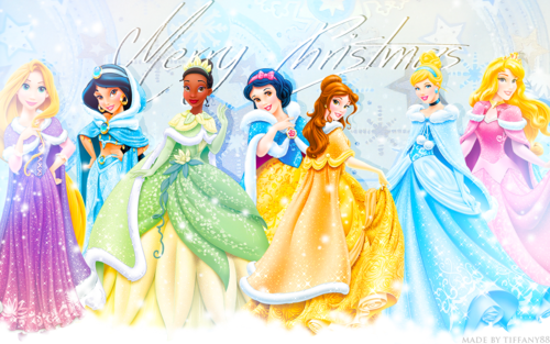 Princesses Disney fond d'écran possibly with a bouquet called Holiday Princesses