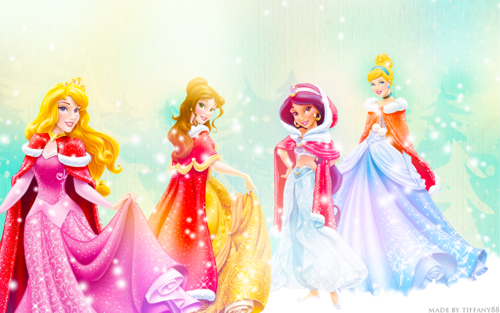 princesas de disney fondo de pantalla with a bouquet titled Holiday Princesses