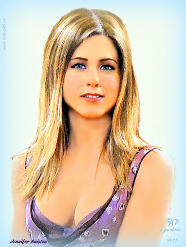 Друзья Обои containing attractiveness and a portrait titled Jennifer Aniston / Rachel