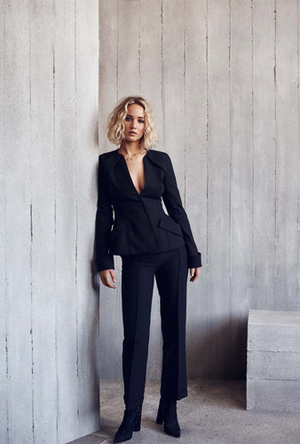Jennifer Lawrence wallpaper containing a business suit, a suit, and a three piece suit entitled Jennifer Lawrence - Elle Malaysia Photoshoot - January 2016