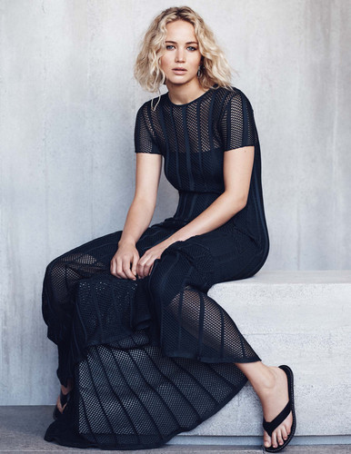 Jennifer Lawrence wallpaper containing a well dressed person and a business suit called Jennifer Lawrence - Elle Malaysia Photoshoot - January 2016