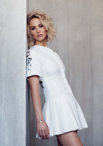 Jennifer Lawrence hình nền possibly containing bare legs, a cốc-tai, cocktail dress, and a chemise entitled Jennifer Lawrence - Elle Malaysia Photoshoot - January 2016