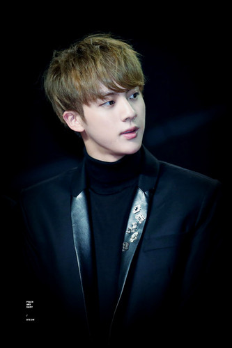 BTS karatasi la kupamba ukuta containing a business suit, a suit, and a well dressed person entitled Jin♔♥