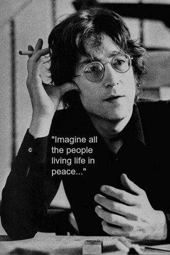 John Lennon Wallpaper Possibly With A Sign Sunglasses And Newspaper Entitled