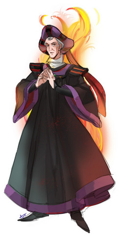 Childhood Animated Movie Villains achtergrond called Judge Frollo