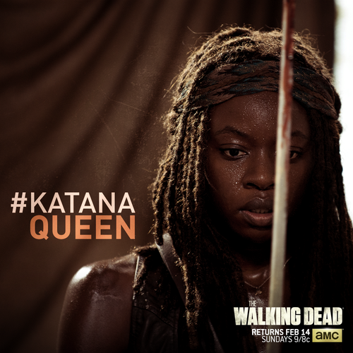 The Walking Dead kertas dinding titled Katana Queen