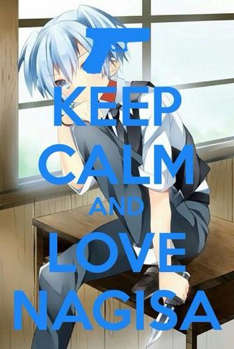 Ansatsu Kyoushitsu پیپر وال titled Keep Calm and Love Nagisa