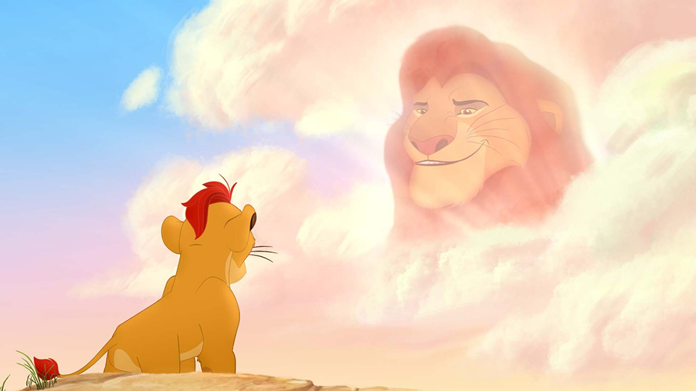 Kion and Mufasa in The Lion Guard
