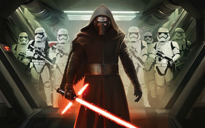 Kylo Ren and The First Order Stormtroopers