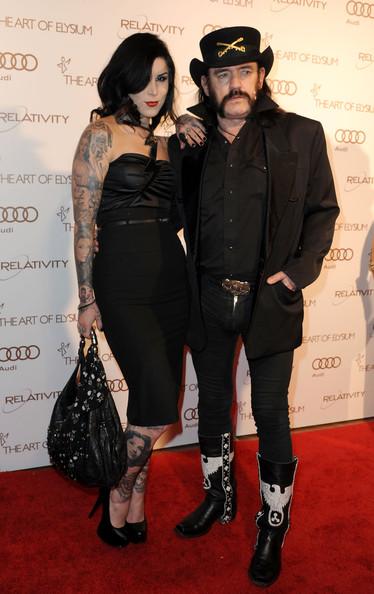 Lemmy Kilmister and Kate Von D