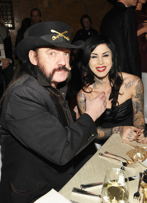 Lemmy Kilmister and Kate Von D