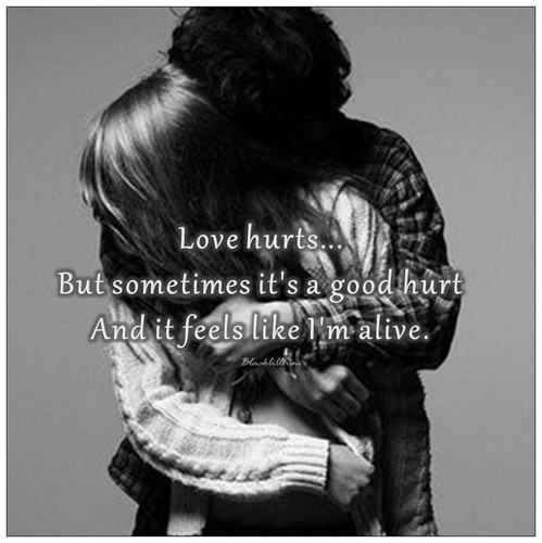 Quotes Wallpaper With A Portrait Entitled Love Hurts