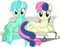 Lyra & Bonbon - my-little-pony-friendship-is-magic photo