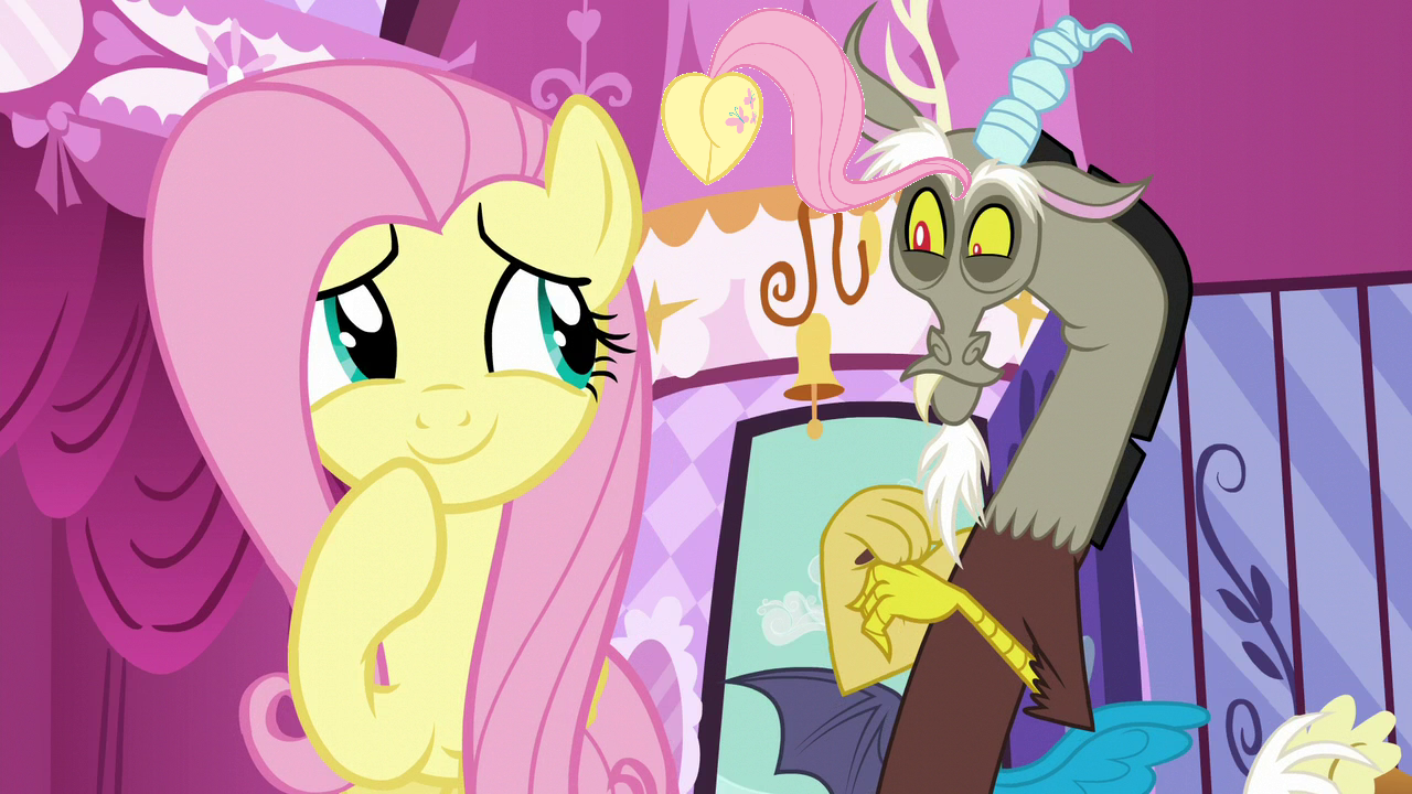 MLP Fanart Fluttershy and Discord Love - Discord- My
