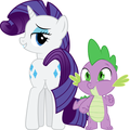 MLP Fanart Rarity and Spike