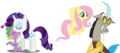 MLP Fanart Rarity with Spike and Fluttershy with Discord - discord-my-little-pony-friendship-is-magic fan art