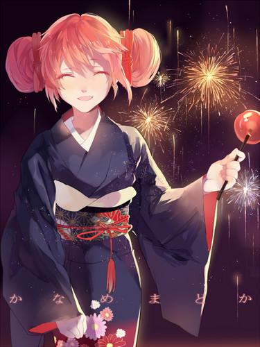 LittleMissBook wallpaper containing a quimono called Madoka Kaname // Puella Magi Madoka Magica
