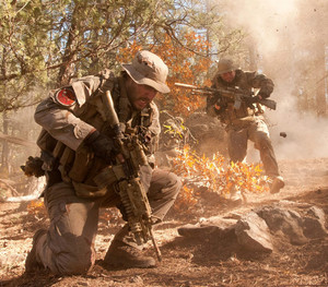 Mark Wahlberg as Marcus Luttrell in Lone Survivor