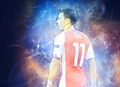 Mesut Ozil hình nền back Recovered