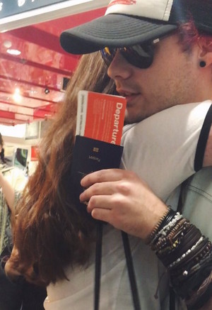 Mikey in Sidney's Airport