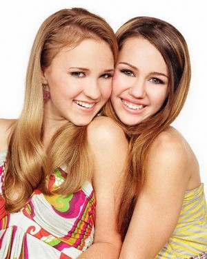 Miley Cyrus and Emily Osment