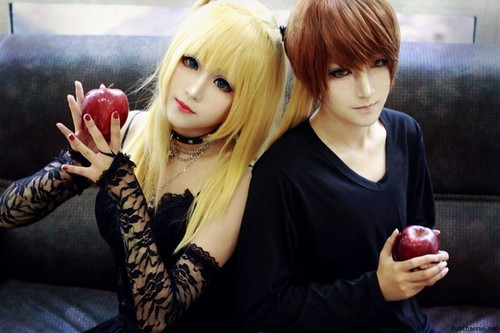 Death Note achtergrond called Misa and Kira - Cosplay