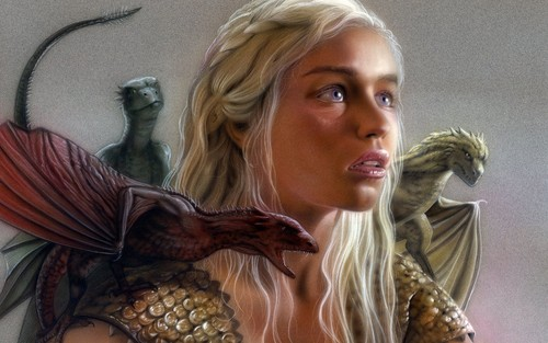 Game of Thrones karatasi la kupamba ukuta titled Mother of dragoni