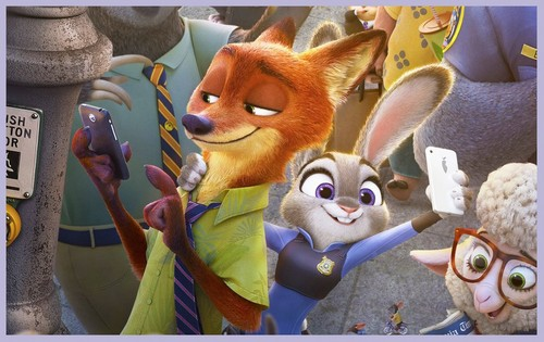 Disney's Zootopia Hintergrund entitled Nick and Judy