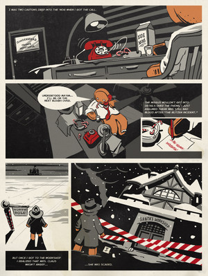 Northpole Noir: Page 1