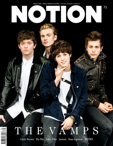 The Vamps wallpaper with a business suit and a well dressed person called Notion Magazine