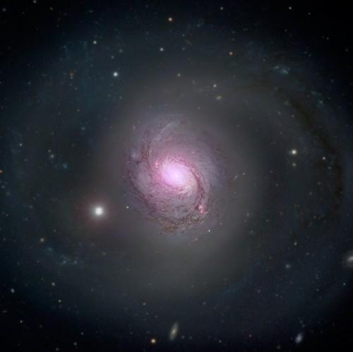 NASA Wallpaper Called NuSTARs View Of Galaxy NGC 1068