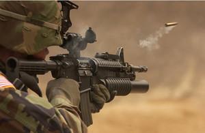 ORD M4 karabin Firing
