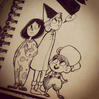 Over The Garden দেওয়াল দেওয়ালপত্র possibly with a sign and জীবন্ত titled OTGW